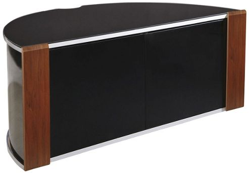 Sirius 850 Walnut and Black Corner TV Cabinet