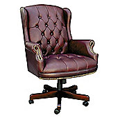 Modal Chairman Traditional Executive Swivel Chair - Green