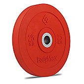 Bodymax Olympic Rubber Bumper Plate - Red 25kg