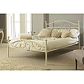 Heritage White Double Metal Bed Frame - 4ft 6""