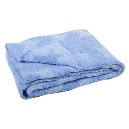 East Coast Silvercloud Chenille Knitted Blue Blanket