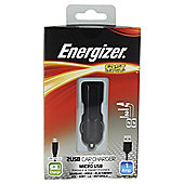 Energizer Micro USB Cable & 2 USB In-Car Charger