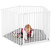 BabyDan Park-a-Kid Play Pen White with Grey Mat