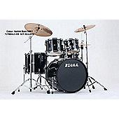 Tama Imperialstar Hairline Black 20 Bass Drum 10, 12, Toms 14 Floor Tom Inc Hardware