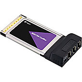 IEEE 1394a / Firewire 400 3 Port PCMCIA Laptop Card