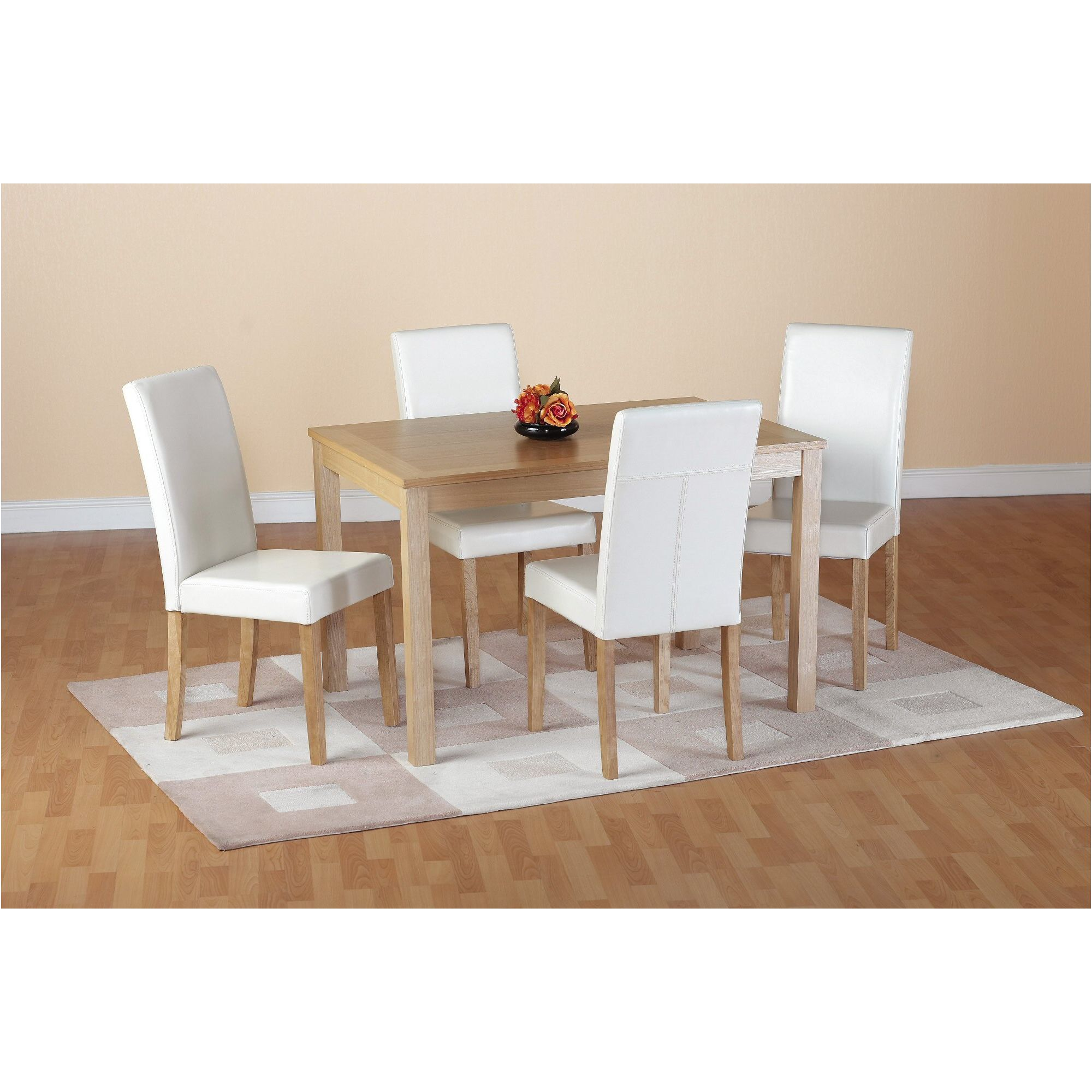 Home Essence Oakmere 5 Piece Dining Set - Cream at Tesco Direct