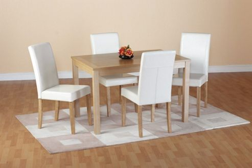 Home Essence Oakmere 5 Piece Dining Set - Cream