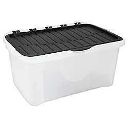 Tesco 40L Crate with Flip Lid