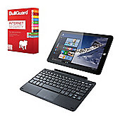 "Linx 1010B 10.1"" Tablet With Keyboard Intel Atom Z3735F 2GB RAM 32GB eMMC Windows 10 With Antivirus"