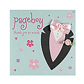 Fashionista Page Boy Wedding Thank You Card