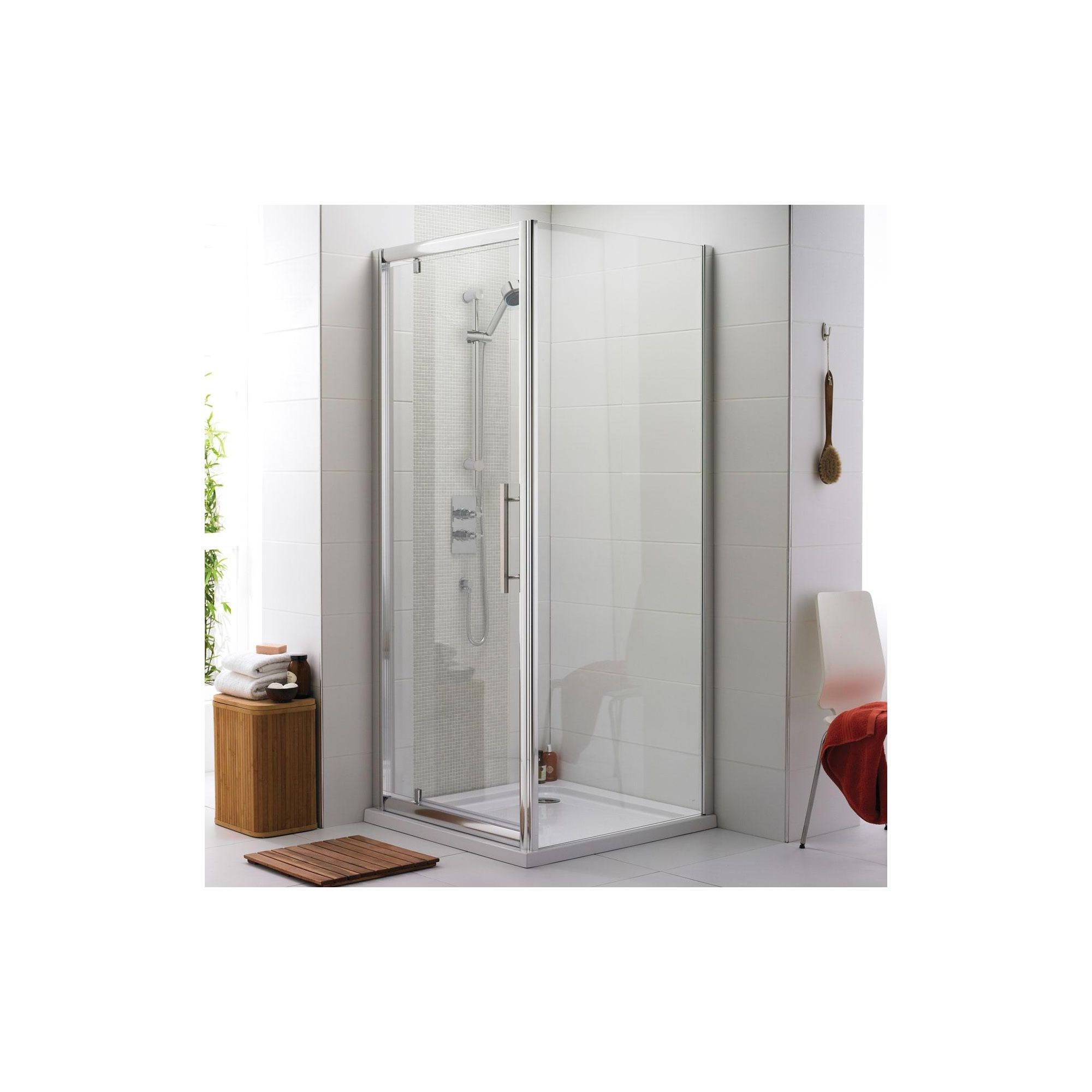 Ultra Roma Pivot Shower Door, 800mm Wide, 6mm Glass at Tesco Direct