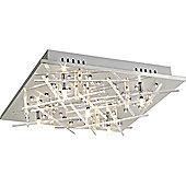 Home Essence Tobira 5 Light Semi-Flush Ceiling Light in Chrome