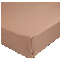 Single Fitted Sheet - Dark Natural