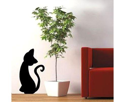 Cat Wall Sticker, Black