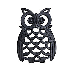 Black Cast Iron Owl Wall Art Ornament
