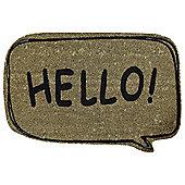 Hello Coir Door Mat 40 x 60cm