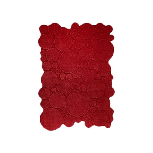 Esprit Circle Red Contemporary Rug - 70cm x 140cm