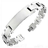 Urban Male Men's Solid Stainless Steel ID Bracelet