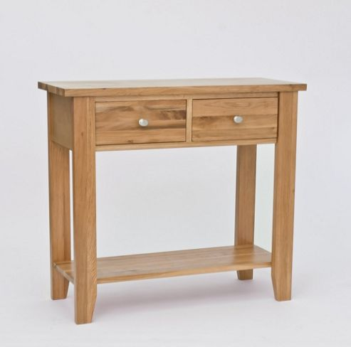 Lansdown Oak 2 Drawer Console Table