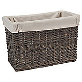 Tesco Grey Wicker Lined Magazine Basket