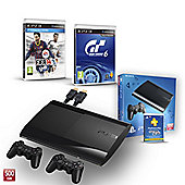 """PS3 500GB (GT6, FIFA 14, PS PLUS 1YR, EXTRA CONTROLLER AND HDMI CABLE)"""