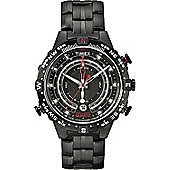 Timex Intelligent Quartz Mens Black Ion-plated Compass Date Watch T2P140