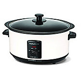 Morphy Richards 460003 Sear & Stew 3.5L Slow Cooker with Glass Lid in White