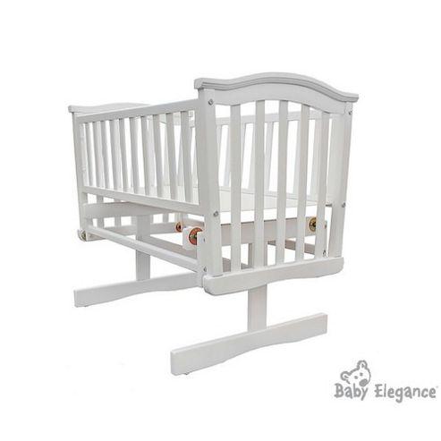 Baby Elegance Elegant Glider Crib - White