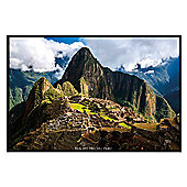Gloss Black Framed Machu Picchu Poster
