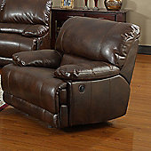 Sofa Source Carlos Bonded Leather Recliner - Brown
