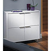 Home Zone Remedy Occasional Four Door Storage Unit - White