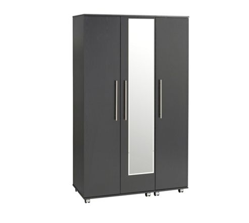 Ideal Furniture Bobby Mirror Wardrobe - Black