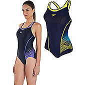 Speedo Ladies Fit Racerback Swimsuit - Purple