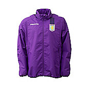 2013-14 Aston Villa Full Zip Rainjacket (Purple) - Purple