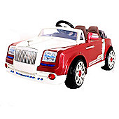 Kids Grand Tourer GT Style Ride On Car With Remote Control - Red