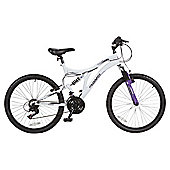"Muddyfox Fallen Angel 24"" Girls' Dual Suspension Mountain Bike"