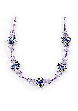 Children's Purple 'Heart' Necklace - 36cm Length/ 4cm Extension