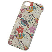 Tortoise™ Hard Protective Case, iPhone 5/5S. Cream with Bird design