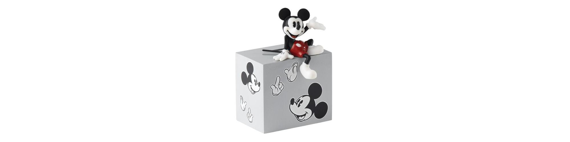 mickey mouse money In excellent condition - various sizes mickey mouse money box height 25 cm,  length 15 cm with slight signs of wear and some colour fading on the back side.