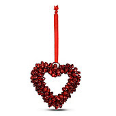 Red Cluster Bell Heart Shaped Hanging Decoration Small