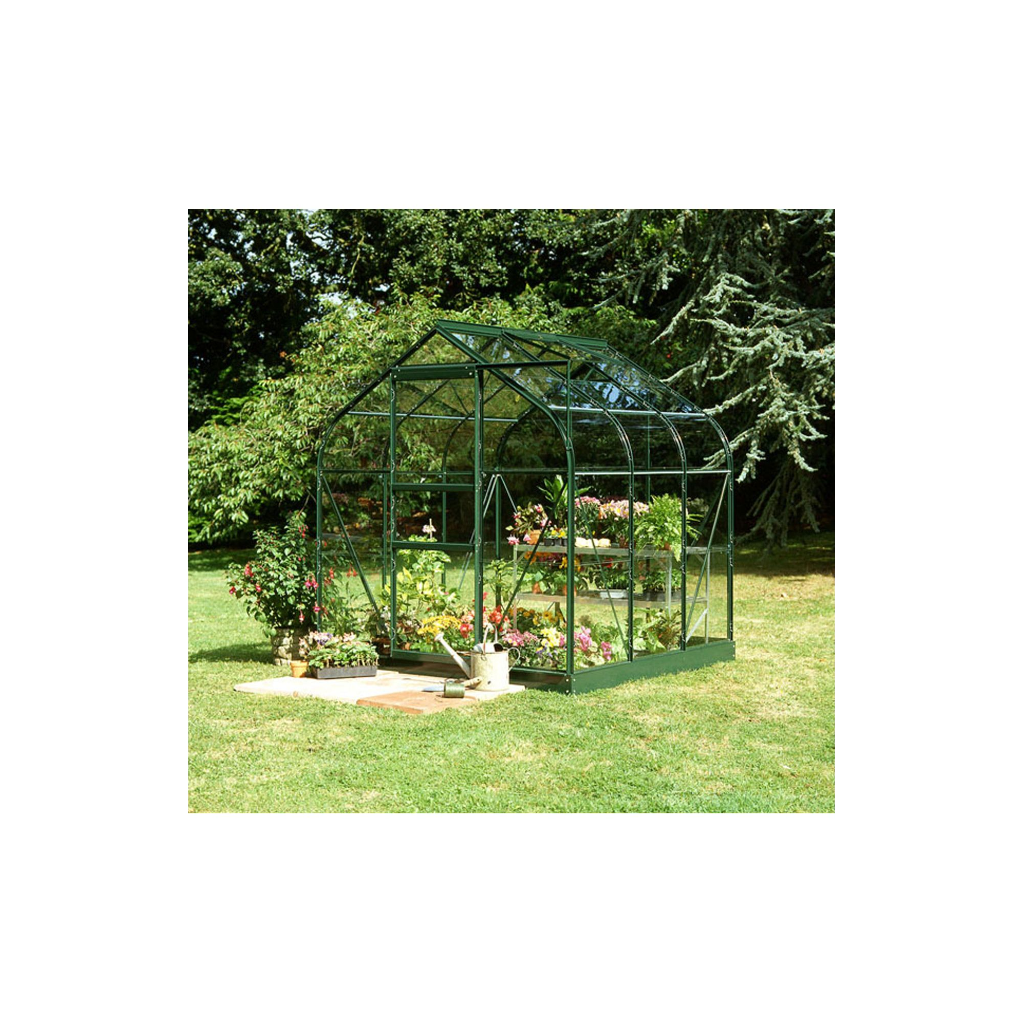 Halls 6x6 Supreme Greenframe Greenhouse + Base - Horticultural Glass at Tesco Direct