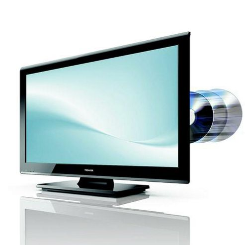 Toshiba 23DL933B 23-inch LED Television with Built-In DVD Player (Black).
