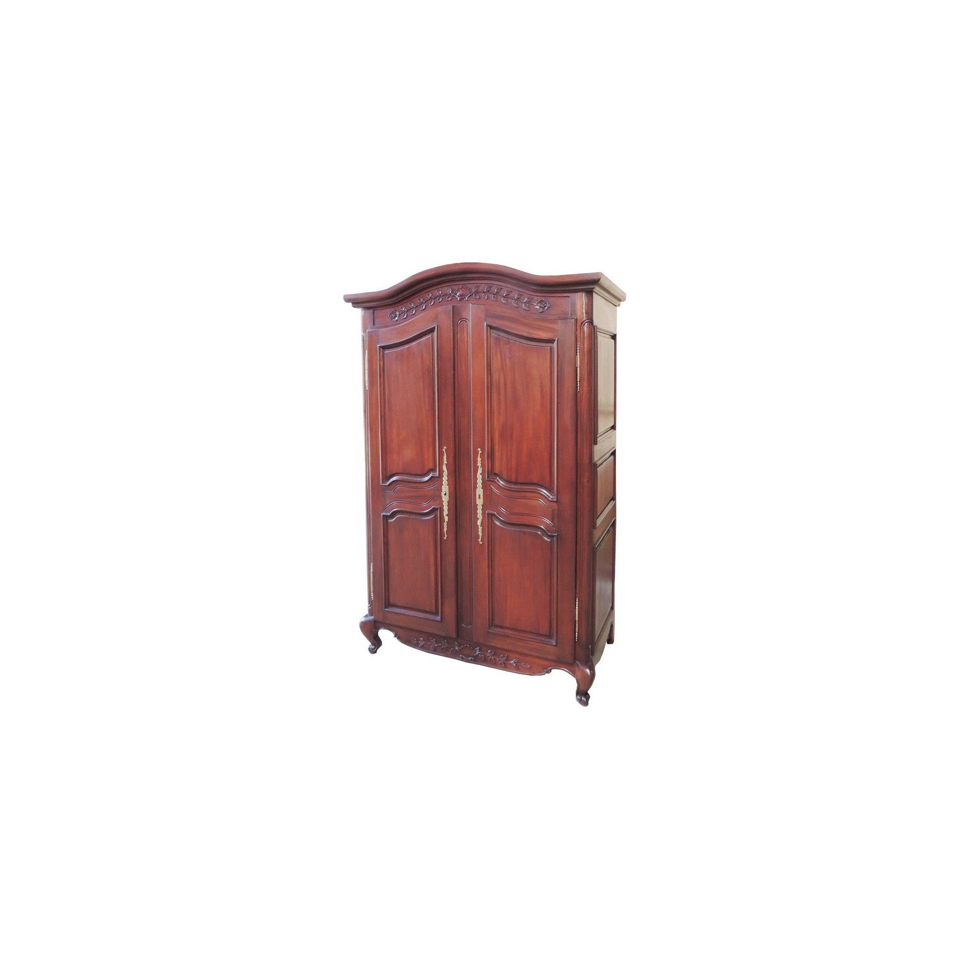 Lock stock and barrel Mahogany Arch Top Armoire with Plain Panels in Mahogany - Wax at Tesco Direct