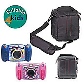 Navitech Black Protective Portable Handheld Case and Travel Bag for the VTech KidiZoom Duo Camera