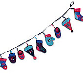 Multi Coloured Winter Accessories Design Washing Line Advent Calendar