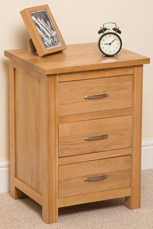 Locker Bedside Table: Buy Boston Solid Oak 3 Drawer Bedside Table Cabinet From