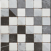 Buxton Marble Black/White Mosaic Sheet 302x302mm (1.01 M² / Box)