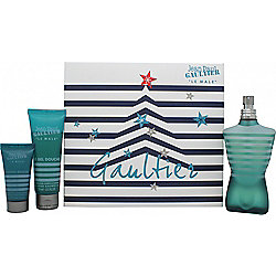 Jean Paul Gaultier Le Male Gift Set 125ml EDT Spray + 75ml Shower Gel + 30ml Aftershave Balm For Men