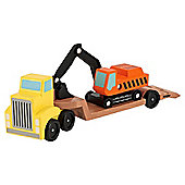 Melissa  Doug Wooden Toy Set Digger Low Loader