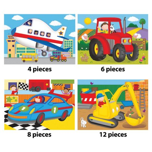 Galt Toys 4 Puzzles Vehicle